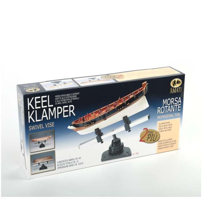 帆船模型製作台キールクランパー画像