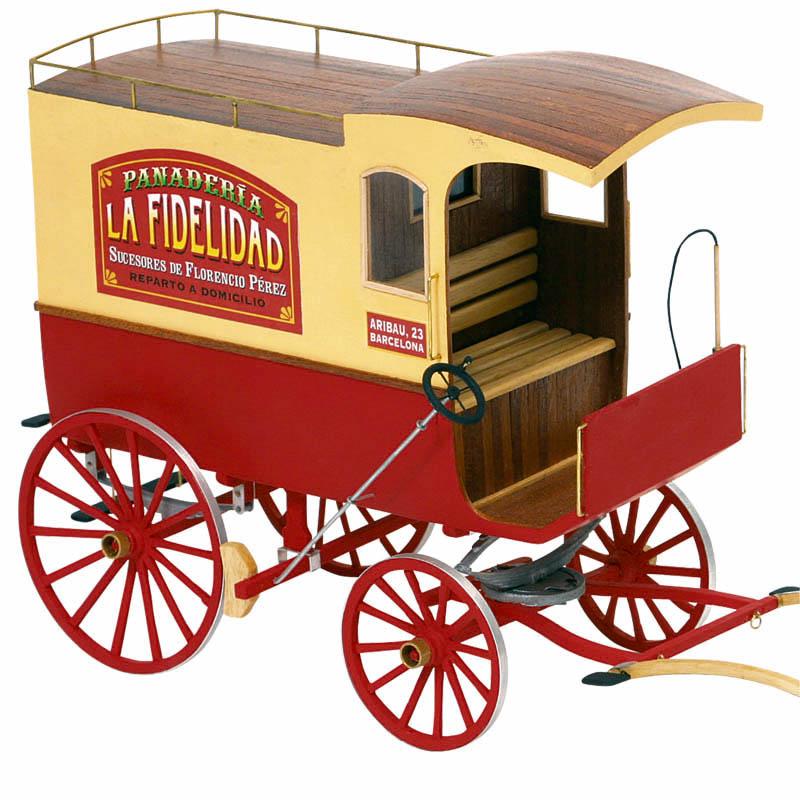 バルセロナ・ランブラス通りの馬車の画像
