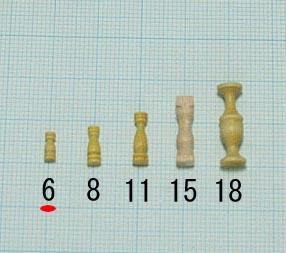 支柱(柘植)(柘植)タカサ6mm(1セット10)画像