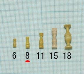 支柱(柘植)(柘植)タカサ8mm(1セット10)画像