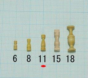 支柱(柘植)(柘植)タカサ11mm(1セット10)画像