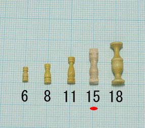 支柱(柘植)(柘植)タカサ15mm(1セット10)画像