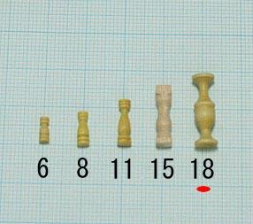 支柱(柘植)(柘植)タカサ18mm(1セット10)画像