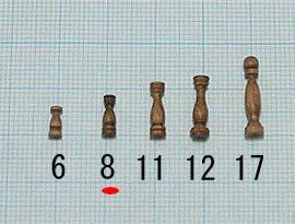 支柱(ウオールナット)(ウオールナット)タカサ8mm(1セット10)画像