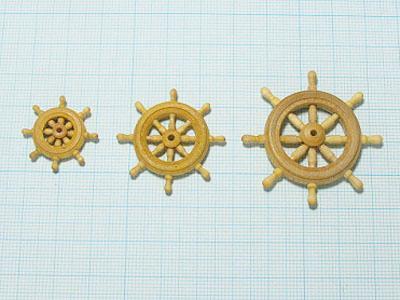 舵輪(柘植)20mmの画像