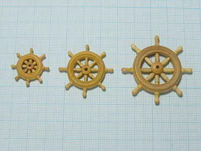 舵輪(柘植)30mm画像