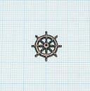 舵輪(ブロンズメタル)11mm(最大直径14mm)の画像