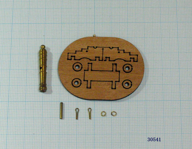 大砲(台座付)(Mantua)30mm/1セット(1)の画像