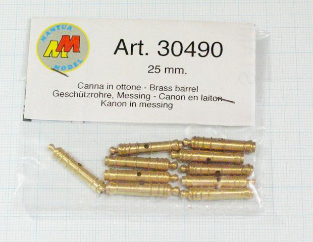 大砲砲身(Mantua)25mm/1セット(10)の画像