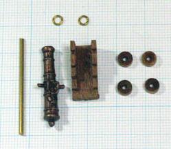 大砲(装飾あり/キャリッジ付)(Corel)30mm/1セット(1)の画像
