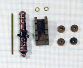 大砲(装飾あり/キャリッジ付)(Corel)40mm/1セット(1)画像