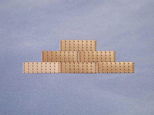 船底用銅板(100枚)18×5.5×0.15mm画像
