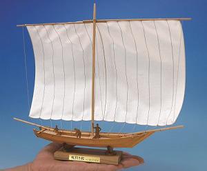 ミニ和船シリーズ 帆引き船の画像