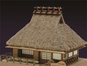 ミニ建築シリーズ No.5かやぶきの家の画像