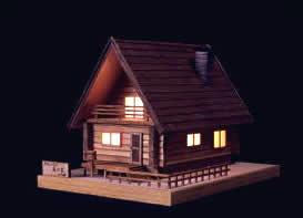 あかりシリーズ No.2ログハウス森の家 の画像