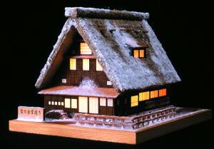 あかりシリーズ No.1雪の合掌造りの画像