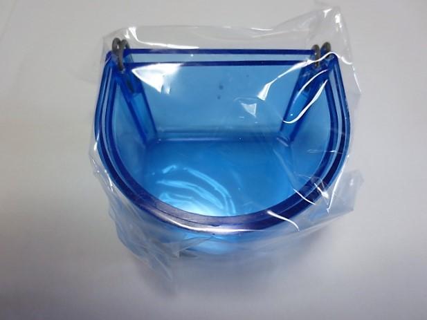 えさ入れ 丸形 2つ組 ブルー の画像