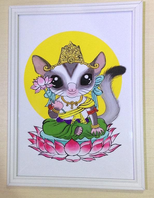フクモモ菩薩の画像