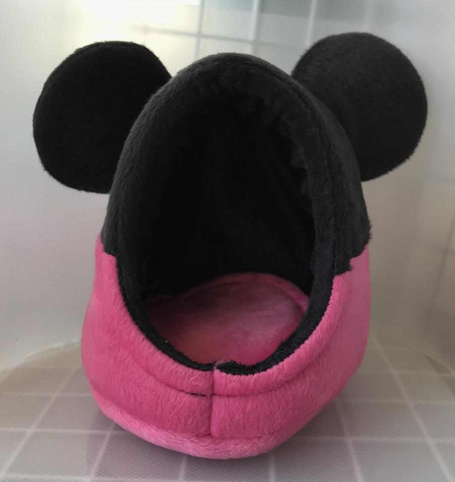 ねず風ポーチ ブラック/ピンクの画像