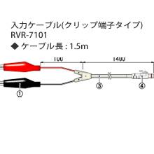 RVR-7101 入力ケーブル(クリップ端子)の画像