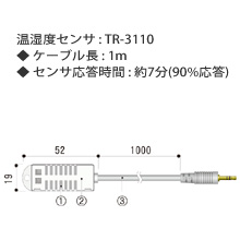 TR-3110 温湿度センサ(ケーブルタイプ)の画像