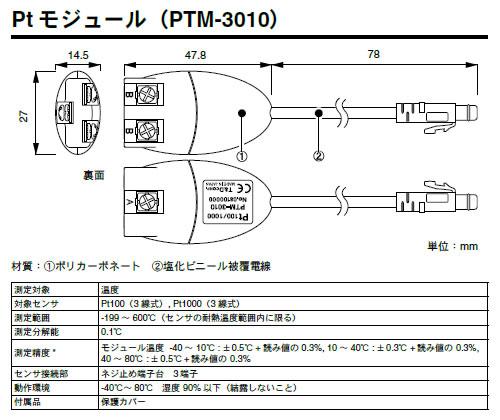 PTM-3010 Ptモジュール画像