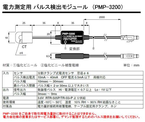 PMP-3200 電力測定用 パルス検出モジュールの画像