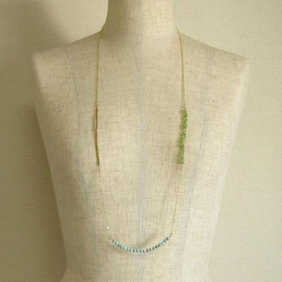 ペリドットのクールネックレスの画像