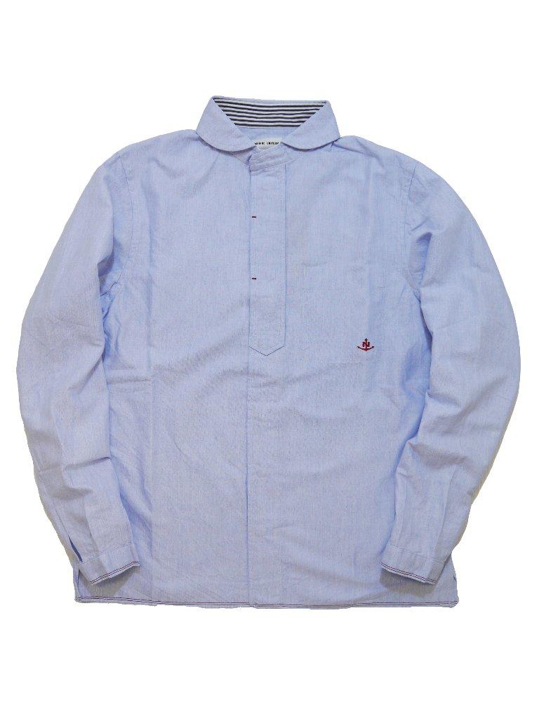 トリコロールセルビッチオックスラウンドカラーシャツ(MADE IN JAPAN)の画像