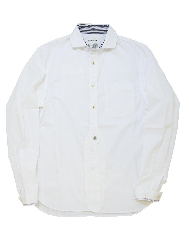 トリコロールセルビッチオックスショートワイドカラーシャツ(MADE IN JAPAN)の画像