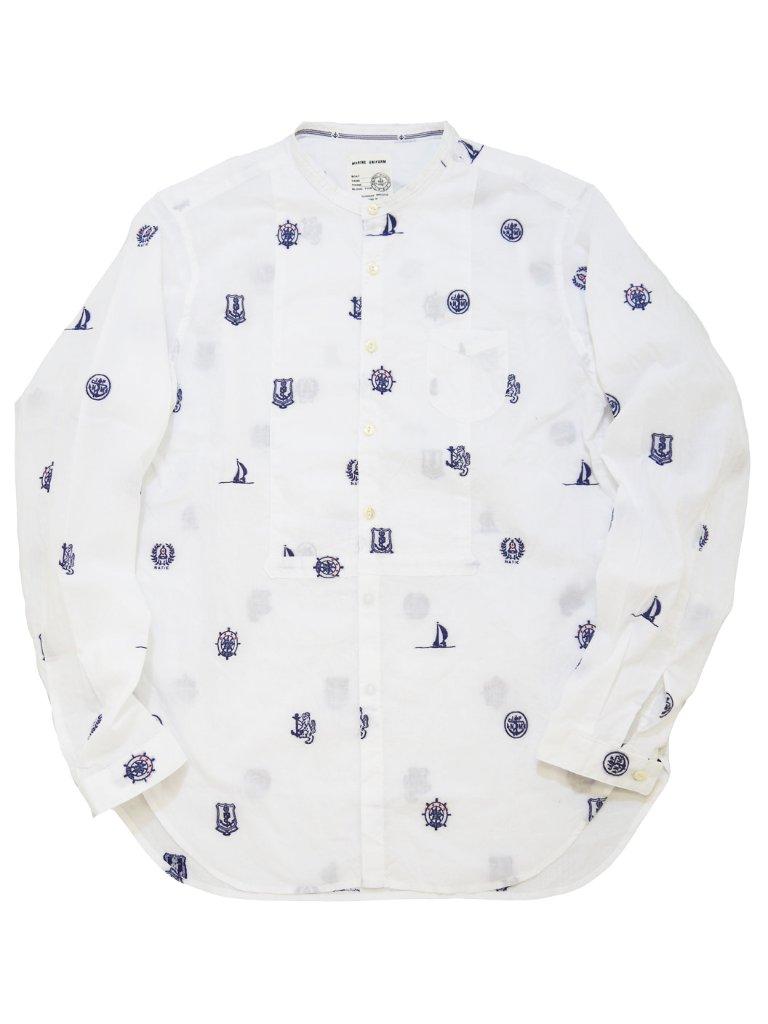 マリンジャカードスタンドシャツの画像
