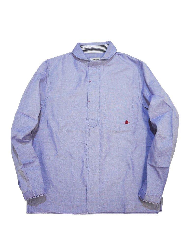 トリコロールセルビッチオックスラウンドカラーシャツ(MADE IN JAPAN) の画像