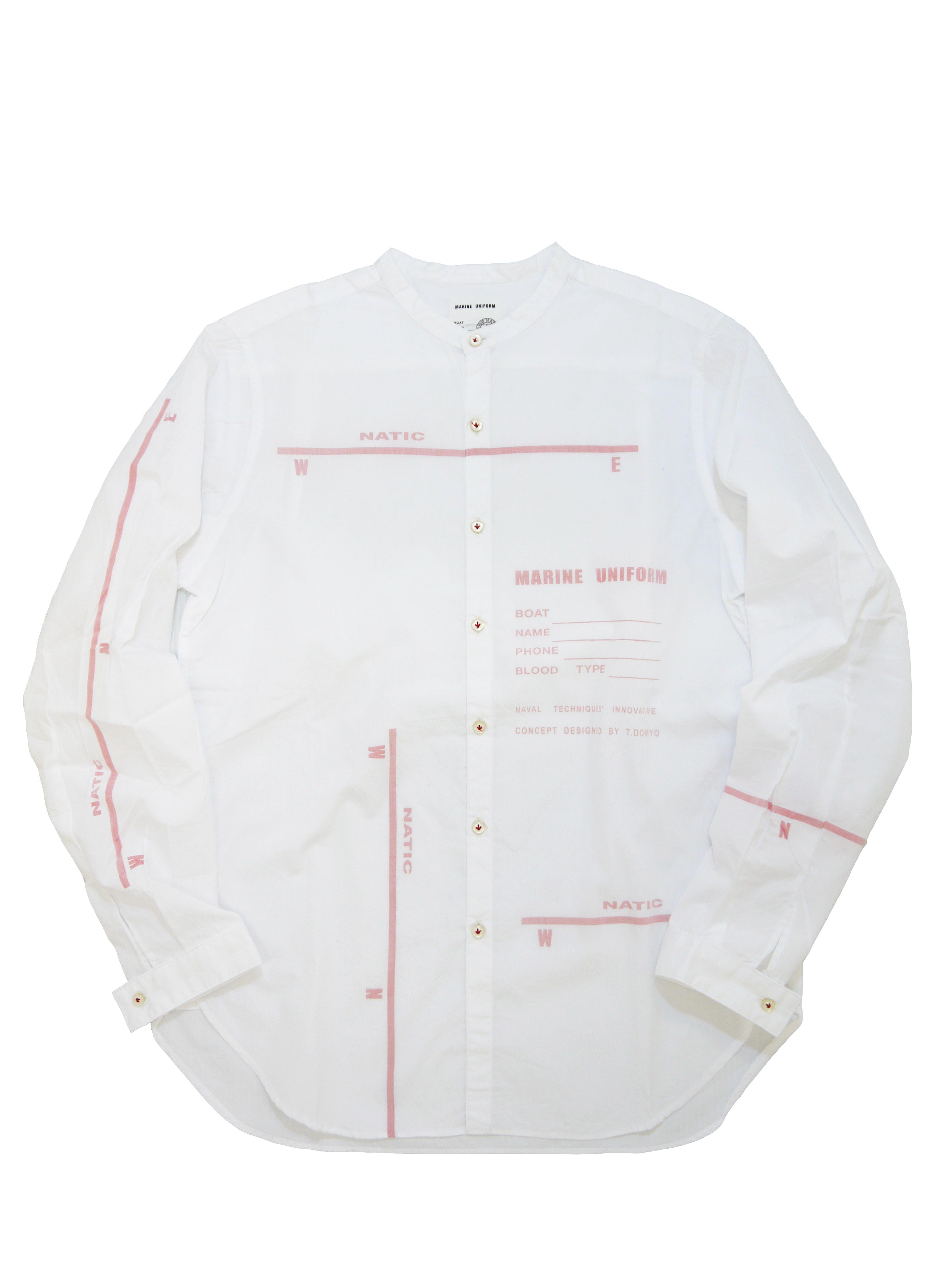 裏プリントスタンドカラーシャツ(MADE IN JAPAN)画像