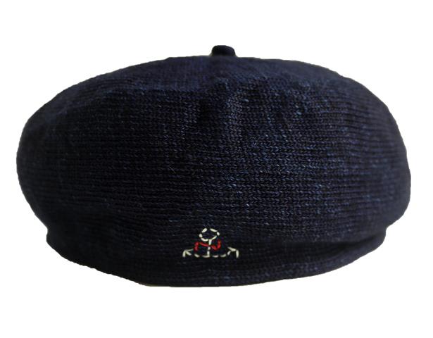 インディゴ天竺 ベレー帽(MADE IN JAPAN)の画像