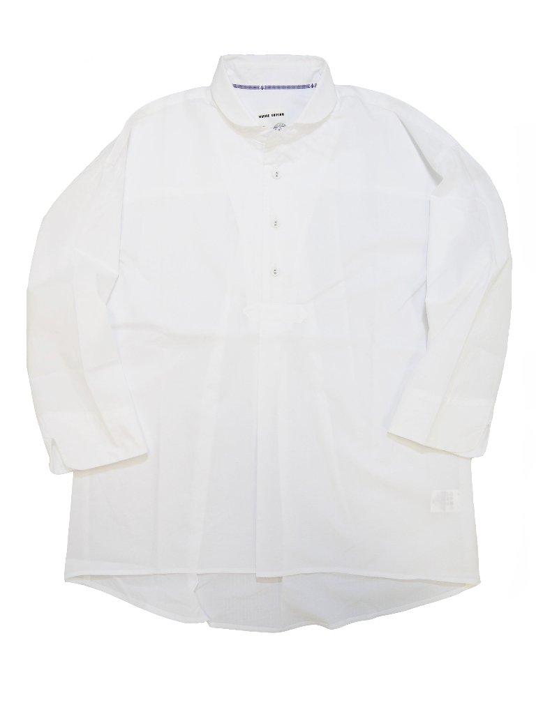 タイプライターラウンドカラース7分袖モックシャツ(MADE IN JAPAN)の画像