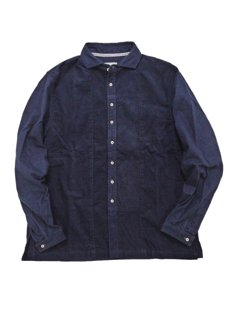 インディゴコーデュロイ×インディゴネルショートワイドシャツ(MADE IN JAPAN)の画像