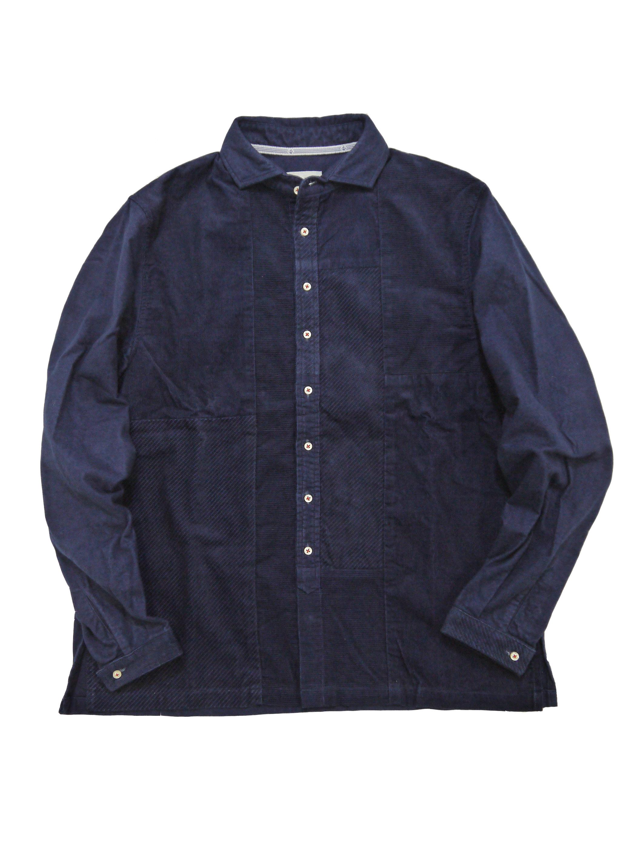 インディゴコーデュロイ×インディゴネルショートワイドシャツ(MADE IN JAPAN)画像