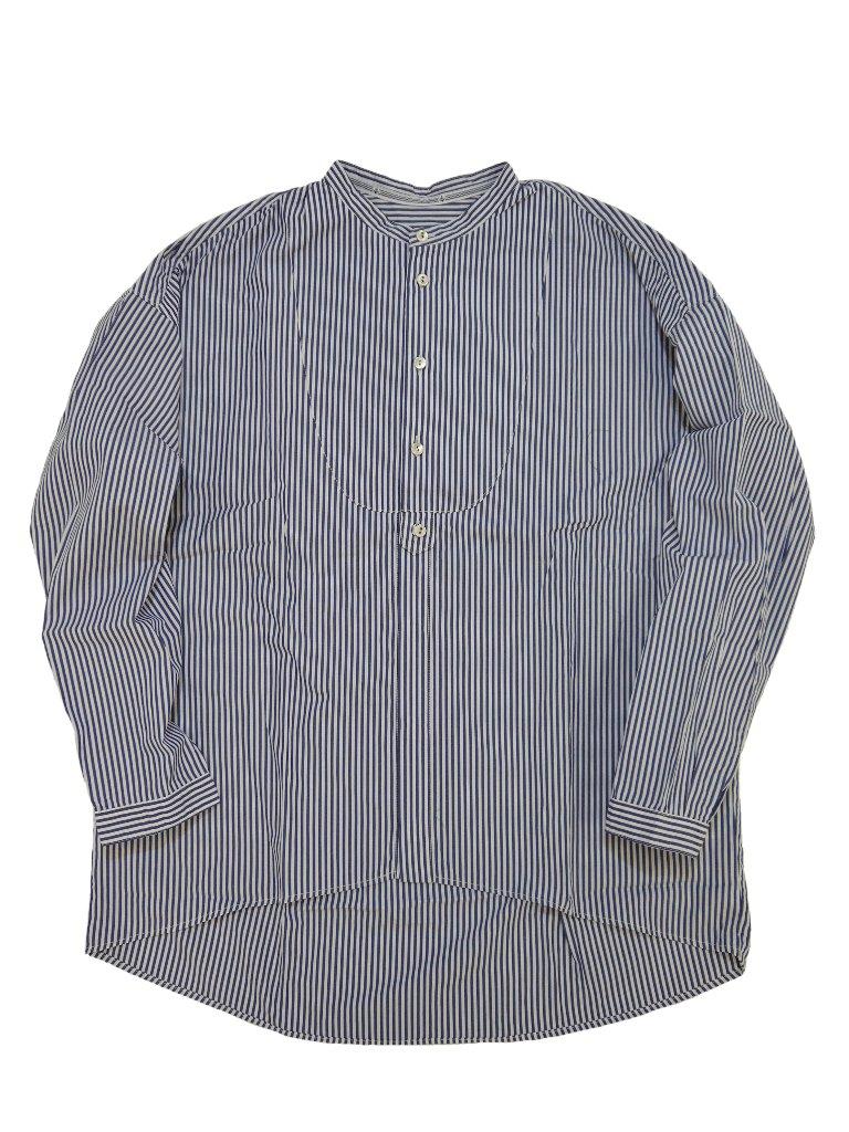 ロンドンストライプスタンドカラースモックシャツの画像