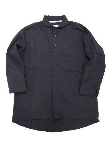 タイプライターラウンドカラー7分袖スモックシャツ(MAIDE IN JAPAN)の画像