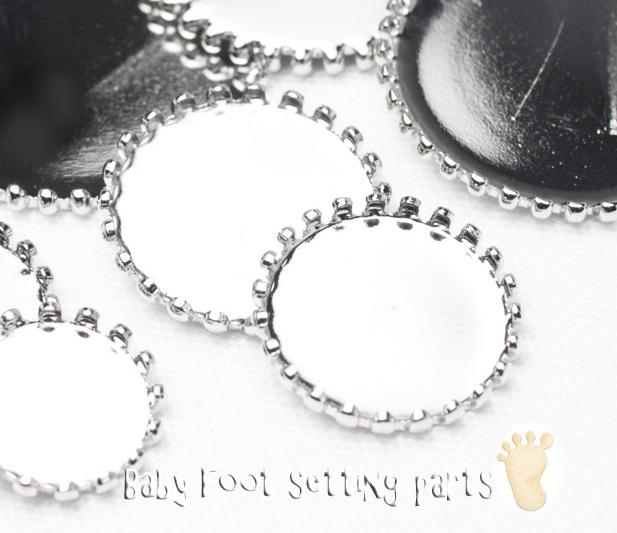 ベイビーフット*セッティング皿【銀色】の画像