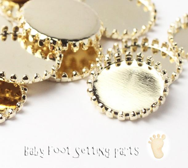 ベイビーフット*セッティング皿【金色】画像