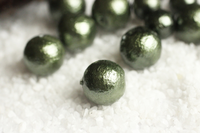 コットンパール-ダークグリーンの画像