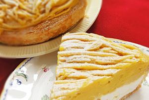 安納芋のモンブランパイ