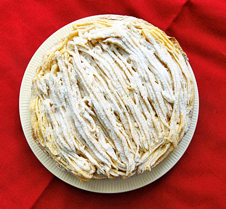 安納芋のモンブランパイ画像