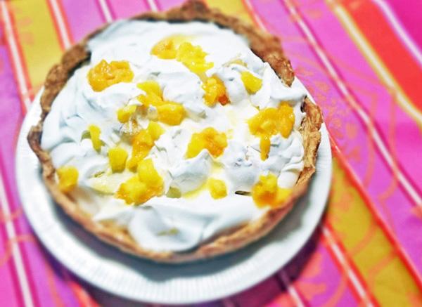 冷たいマンゴーのパイ画像