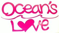 NEW LOVEロゴステッカー ピンクの画像
