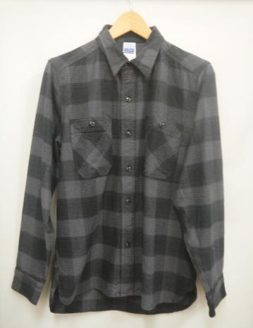 【メンズ】WAVEワンポイントネルシャツ グレーの画像