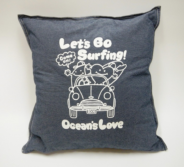 プリントクッションカバー Let's Go Surfing の画像