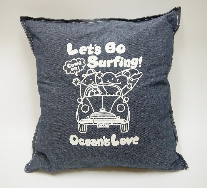 プリントクッションカバー Let's Go Surfing 画像