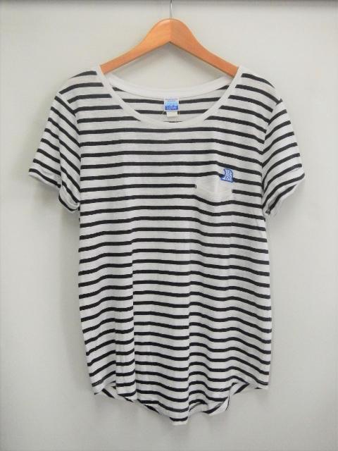 【レディース】05レディースボーダーTシャツ ホワイト画像
